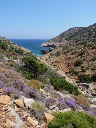 shipwreck: Shipwreck in Amorgos, Cyclades, Greece