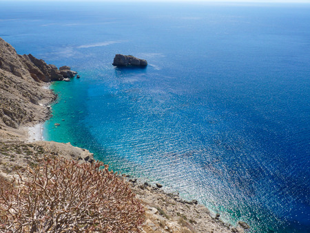 cyclades: Amorgos island landscape, Cyclades, Greece Stock Photo