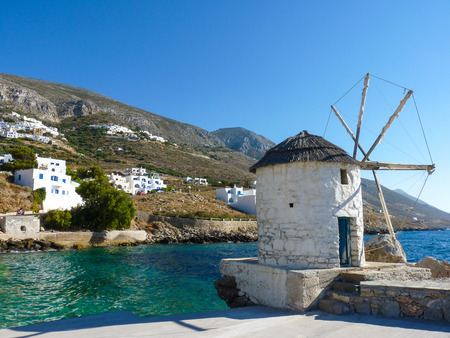 Beautiful old traditional town in Aigiali Amorgos island, Cyclades, Greece
