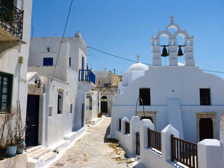 paisaje mediterraneo: Chora la capital de la isla de Amorgos, Cícladas, Grecia