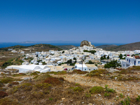 chora: Chora la capital de la isla de Amorgos, C�cladas, Grecia