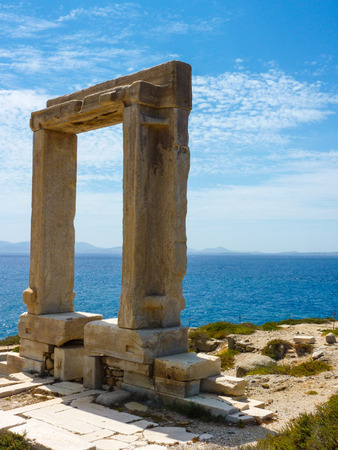 naxos: Portara - ruins of ancient temple of Delian Apollo on Naxos island, Cyclades, Greece