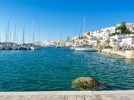 Hora view, the capital of Naxos island, Cyclades, Greece
