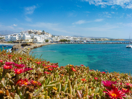Hora view, the capital of Naxos island, Cyclades, Grecce