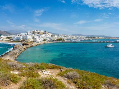 naxos: Hora view, the capital of Naxos island, Cyclades, Grecce