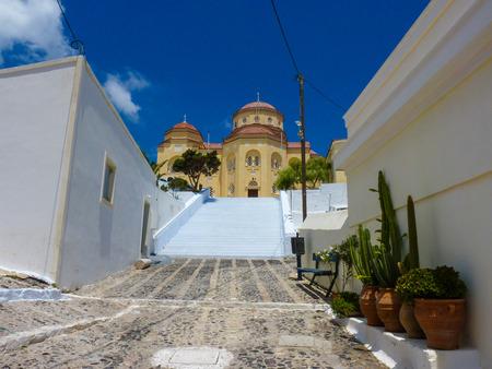 santorini island: Beautiful church in Santorini island, Cyclades, Greece