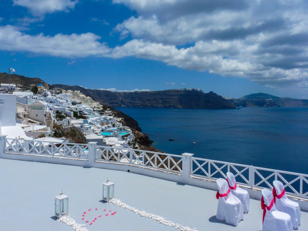 cyclades: Amazing summer view Santorini island, Cyclades, Greece