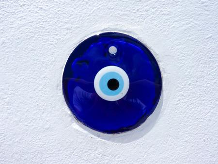 lucky charm: Traditional greek evil eye lucky charm in Santorini island, Cyclades, Greece