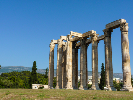 olympian: Ancient Temple of Olympian Zeus Olympieion, Athens, Greece