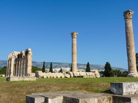 olympian: Ancient Temple of Olympian Zeus Olympieion, Athens, Greece