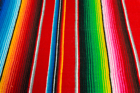 native american: Colorful Mexican Poncho Background Stock Photo