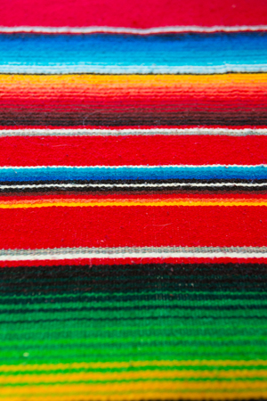 Colorful Mexican Poncho Background Stock Photo