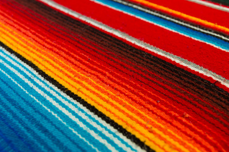 poncho: Colorful Mexican Poncho Background Stock Photo
