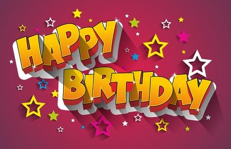 Carte de voeux de joyeux anniversaire Banque d'images - 48178419