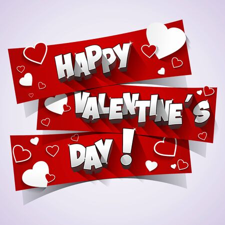 happy couple: Happy Valentines Day Greeting Card  illustration