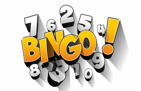 Creative Abstract Bingo Jackpot symbol illustration