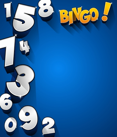 bingo: Creative Abstract Bingo Jackpot symbol illustration