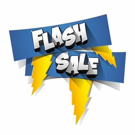 Flash Sale with thunder on background vector illustration Çizim