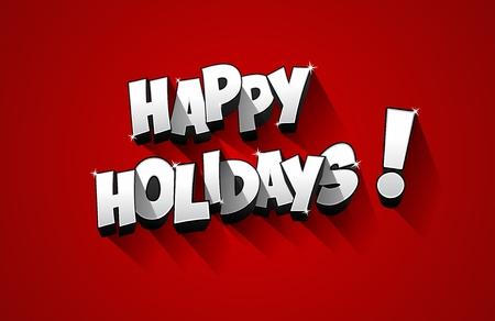 holidays: Happy Holidays greeting card design vector illustration