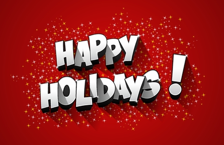Happy Holidays greeting card design vector illustration