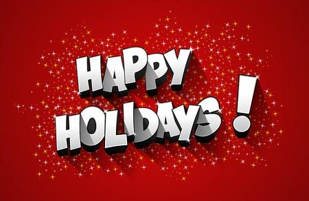 Happy Holidays wenskaart ontwerp vector illustratie
