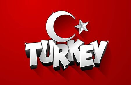 turkish flag: Creative abstract flag of Turkey, turkish flag background vector illustration Illustration