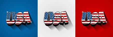 visit us: Usa flag text on background vector illustration