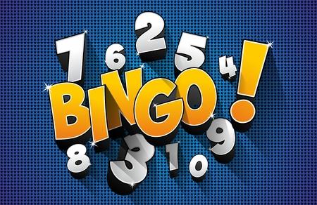 bingo: Ejemplo creativo del símbolo abstracto del vector Bingo Jackpot Vectores