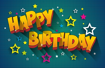 birthday cartoon: Happy Birthday Greeting Card On Background vector Illustration