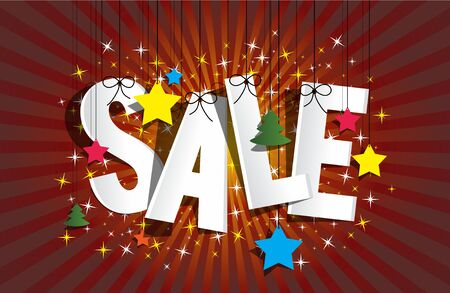 winter sale: Christmas Sale design on background vector illustration