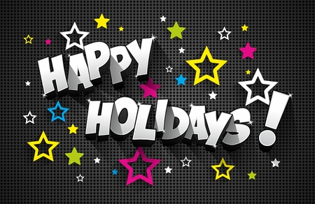 happy holidays: Happy Holidays greeting card design vector illustration