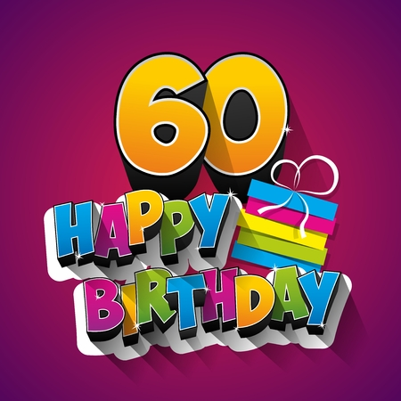 Happy Birthday Greeting Card On Background vector Illustration