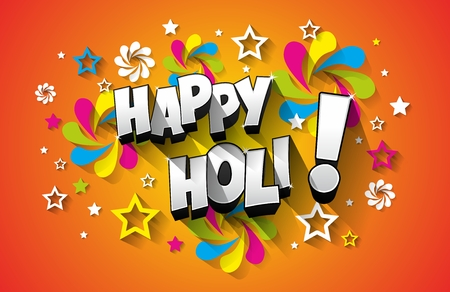 gulal: Creative colorful happy holi greeting card vector background