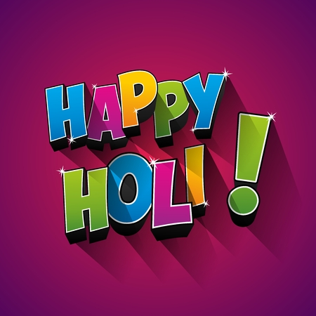 dhulandi: Creative colorful happy holi greeting card vector background