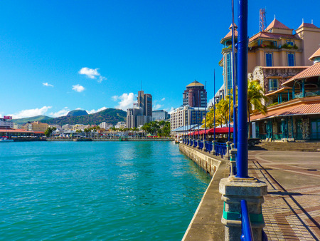 Caudan Waterfront In Port Louis, Mauritius Island 스톡 콘텐츠