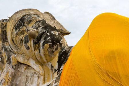 reclining: Reclining Buddha at Wat Lokayasutharam, Ayutthaya, Thailand