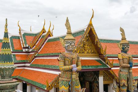 the emerald city: Wat Phra Kaew, temple of Emerald Buddha in Bangkok, Thailand