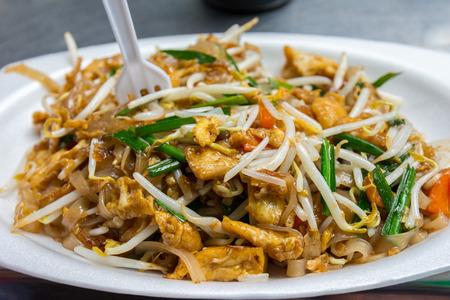 Delicious healthy pad thai streetfood in Khao San road, Boangkok, Thailand
