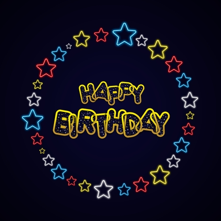 greeting card background: Happy Birthday Greeting Card On Background