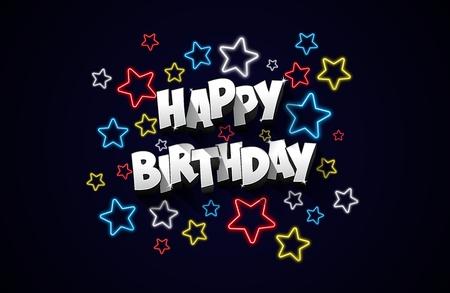 greeting card background: Happy Birthday greeting card on dark background