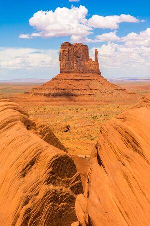 Monument Valley on the border between Arizona and Utah, USA Stock Photo