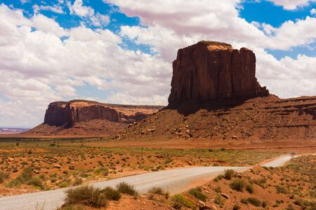 Monument Valley on the border between Arizona and Utah, USA