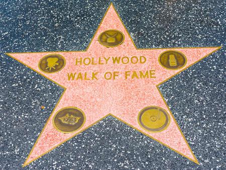 Los Angeles, California, USA - July 22th, 2019: Walk of Fame