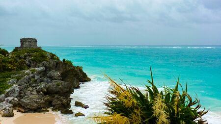 Beautiful beach of Tulum, Yucatan peninsula, Mexico.