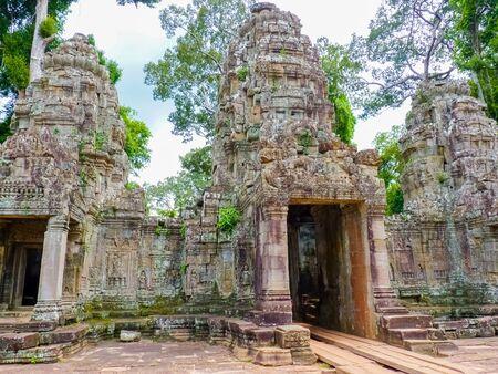 Prea Khan temple in Angkor area, Siem Reap, Cambodia