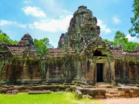 Prea Khan temple in Angkor area, Siem Reap, Cambodia Banque d'images
