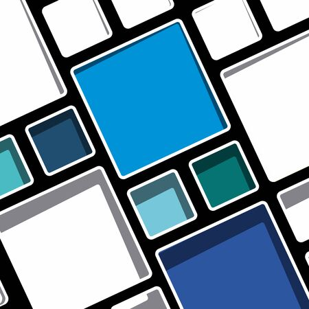 Colorful geometric modern Mondrian style background vector illustration