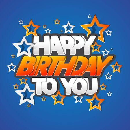 Happy Birthday Greeting Card Vector Illustration Vettoriali