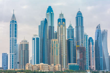Dubai, United Arab Emirates, January 25th, 2020: Dubai Marina skyscraper view
