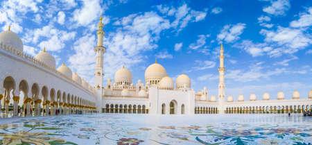 Abu Dhabi, United Arab Emirates, January 23th, 2020: Sheikh Zayed grand mosque